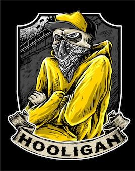 Hooligan in actie