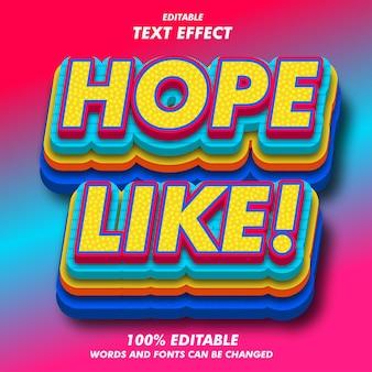 Hoop als! tekst effecten