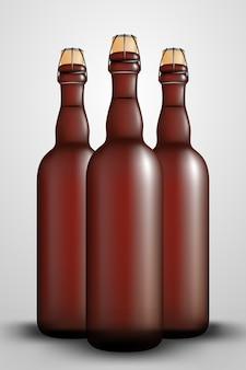 Hop fles lange wijnfles dop