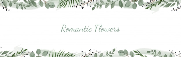Horisontal botanische banner.