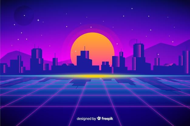 Horizon futuristische achtergrond