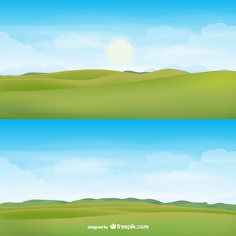 Horizon landschap vector