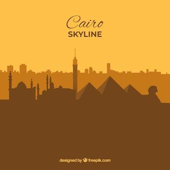 Horizon van kaïro, egypte