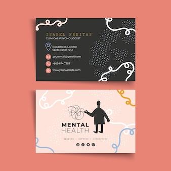 Horizontaal visitekaartje voor psychologie