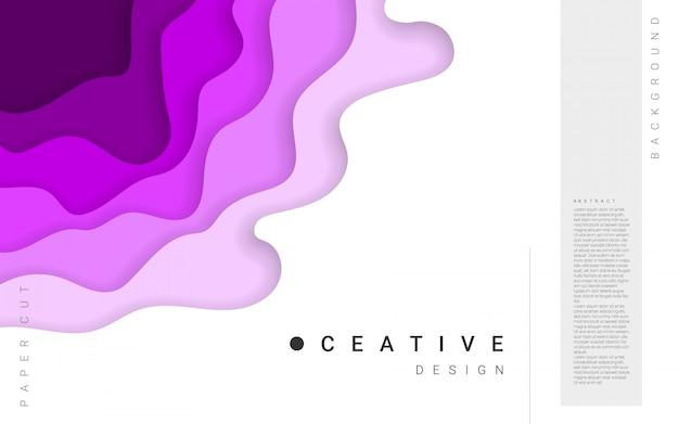 Horizontale abstracte achtergrond en papier gesneden vormen. tekstsjabloon