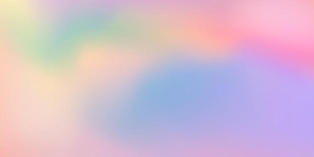 Horizontale abstracte pastel kleur hologram achtergrondontwerp