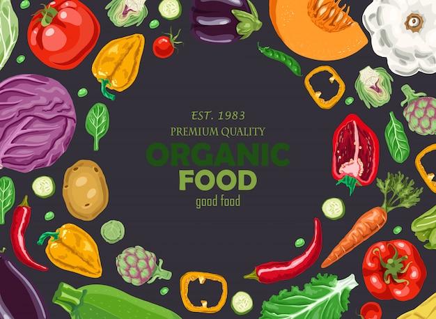 Horizontale achtergrond met groenten.
