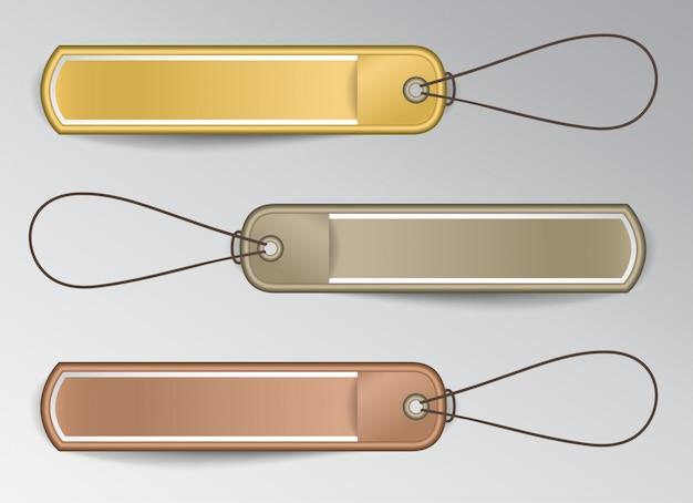 Horizontale badges met touwen