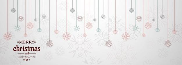 Horizontale banner met kerstkaart
