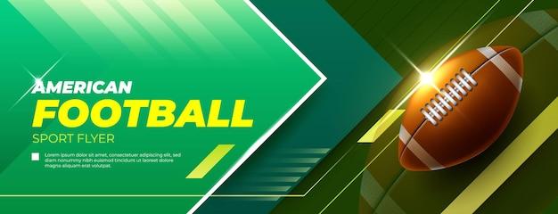 Horizontale banner voor amerikaans voetbalspel