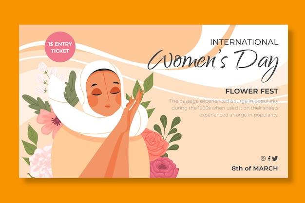 Horizontale banner voor internationale vrouwendag