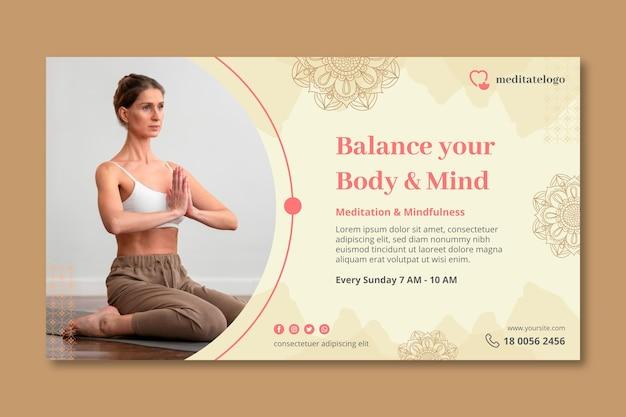 Horizontale banner voor meditatie en mindfulness
