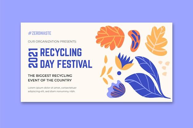 Horizontale banner voor recycling dagfestival