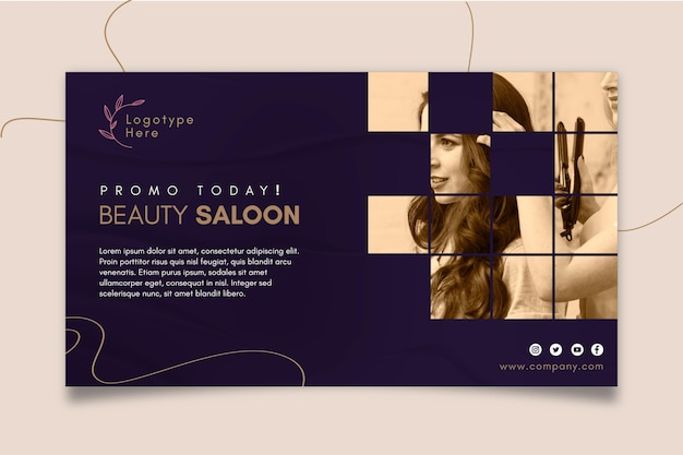 Horizontale banner voor schoonheidssalon
