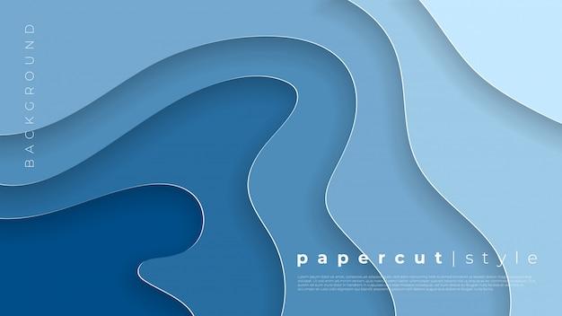 Horizontale banners met 3d abstracte achtergrond en papier gesneden vormen.