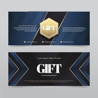 Horizontale banners voor cadeaubonnen met kleurovergang