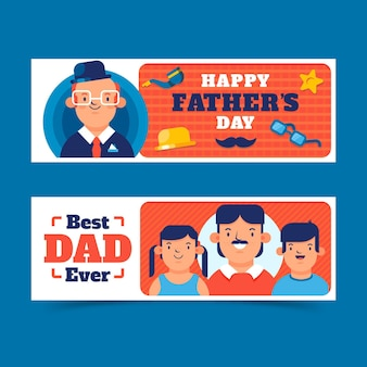Horizontale banners voor vaderdag