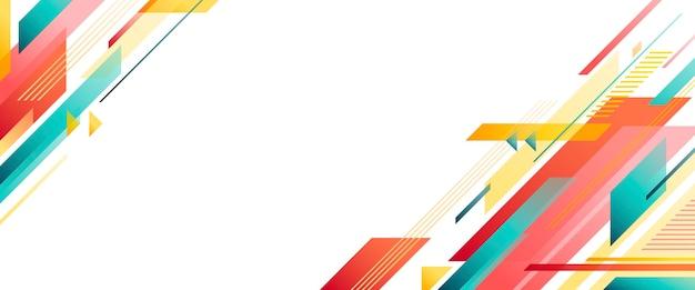 Horizontale geometrische app-omslagsjabloon