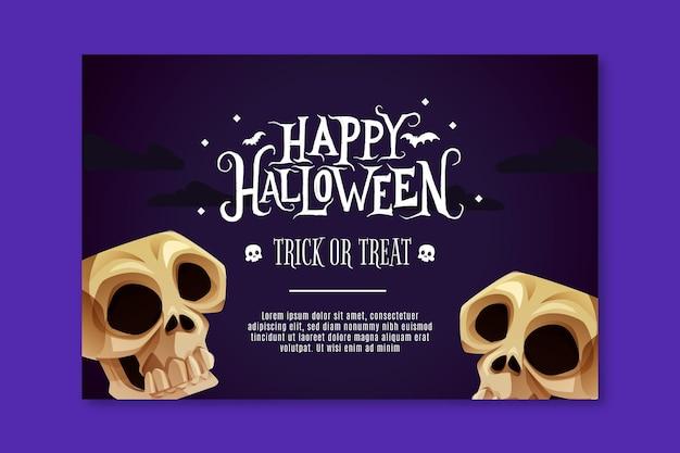 Horizontale halloween-banner