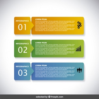 Horizontale infographic banners