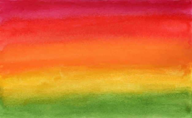 Horizontale kleurovergang groen naar rood aquarel art