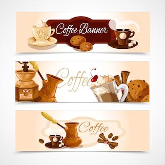 Horizontale koffiebanners