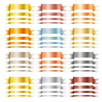 Horizontale lege linten met tekstruimte geïsoleerd op een witte achtergrond