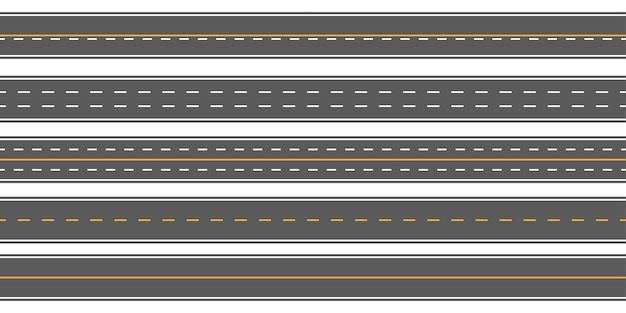 Horizontale rechte naadloze wegen, weg, snelwegen