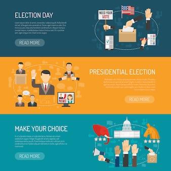 Horizontale verkiezingsbanner
