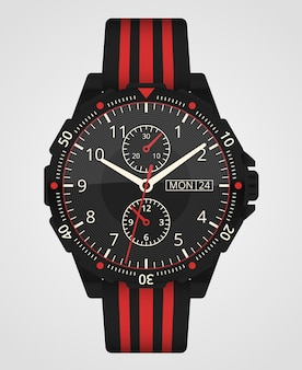 Horloge. man horloge geïsoleerd op een witte achtergrond. polshorloge accessoire.