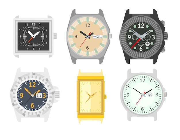 Horloges instellen. stijlvolle accessoire voor mannen.