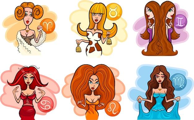 Horoscoop sterrenbeelden met vrouwen