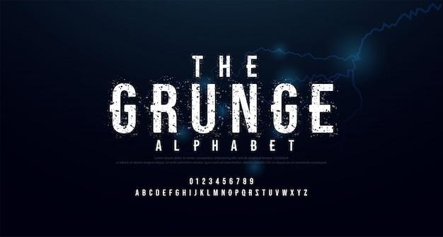 Horror enge film alfabet lettertype.