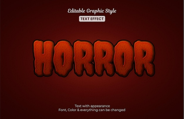 Horror mysterie bewerkbaar teksteffect