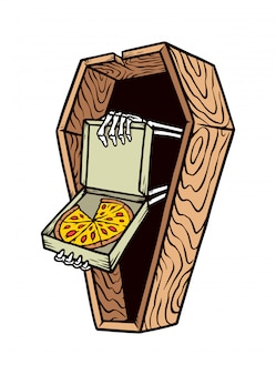 Horror pizza illustratie