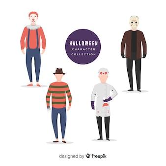 Horrorfilmkarakters voor halloween