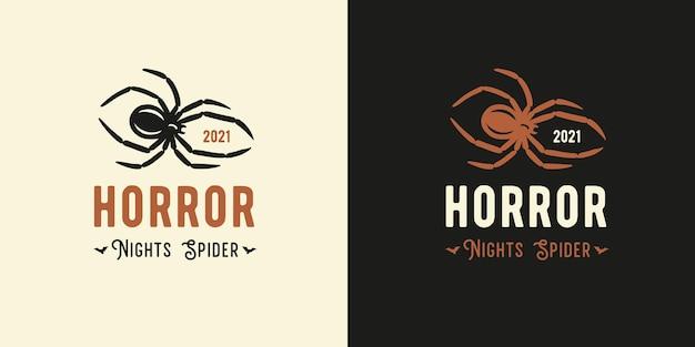 Horrorspin en insect voor halloween-webontwerp