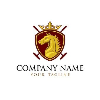 Horse hockey embleem logo sjabloon