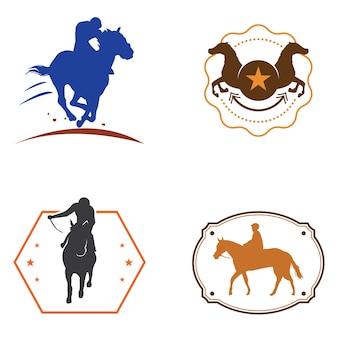 Horse racehorse vintage logo symbol