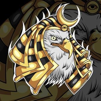 Horus god van egypte mythologie karakterontwerp
