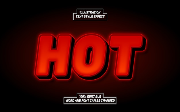 Hot bold text style effect