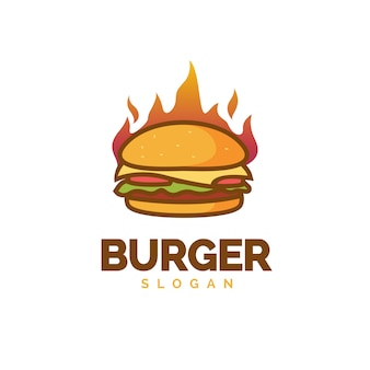 Hot burger-logo