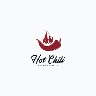 Hot chili logo ontwerp concept symbool illustratie