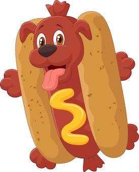 Hot dog stripfiguur