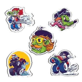 Hot rod stickers