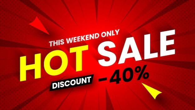 Hot sale banner, korting 40%.