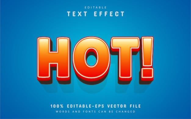 Hot text effect cartoon stijl
