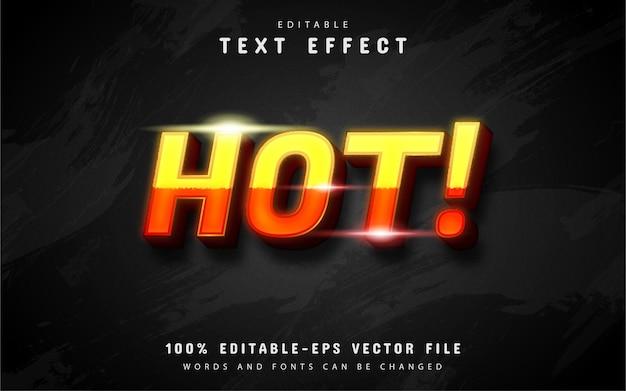 Hot text-effect
