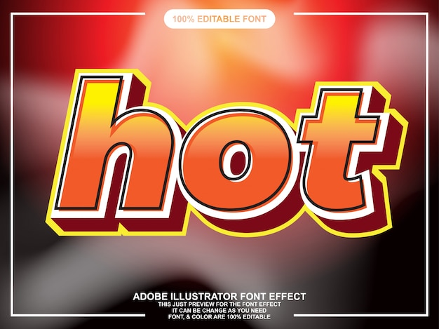 Hot vet tekststijl lettertype effect