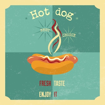 Hotdog achtergrond ontwerp